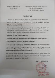 Hỗ trợ pháp lý tại Ninh Thuận- Khánh Hòa