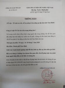 Tư vấn pháp luật tại Nam Định